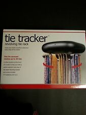 NEW Tie Tracker Revolving Tie Rack for up to 30 Ties