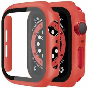 For Apple Watch Series 7 41mm 45mm Case Slim Matte Hard Cover + Screen Protector