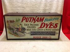 COUNTRY STORE PUTNAM DYES CABINET DISPLAY TIN SIGN