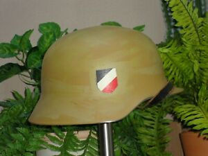 WWII German Army Wehrmacht helmet Reproduction Afika Corp replica