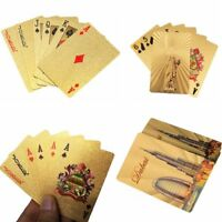 jeux de table don plaqué or au poker imperméables à l'eau les cartes à jouer