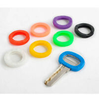 8pc/set Bright Colors Silicone Key Cap Covers Hollow Topper Keyring +Bly Braille