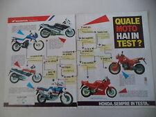 advertising Pubblicità 1989 HONDA DOMINATOR 650/VFR 750 F/AFRICA TWIN/TRANSALP