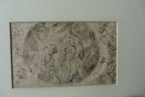 SOUTH NETHERLANDISH SCHOOL 16thC - RELIGIOUS SCENE BY LAMBERT SUAVIUS - INK