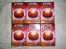 6 Cassette tapes Tdk Hs45 For Camcorder Video Camera News Closed In Nylon