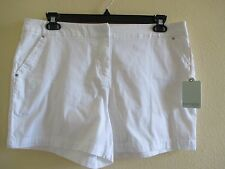 NWT - Dept 222 ladies pretty White Shorts - sz 12P - MSRP $40.00