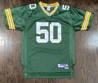 Green Bay Packers NFL Football #50 AJ Hawk Jersey Youth Size XL Reebok Wisconsin