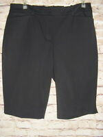 White House Black Market Bi-Stretch Black Bermuda Shorts Womens Size 6  NWT