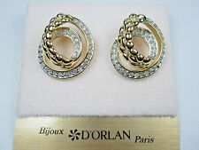 with Swarovski Crystals 1471 D'Orlan Gold Plated Pierced Earrings
