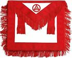Masonic Royal Arch Member RAM Apron With Fringe ( LAMBSKIN LEATHER ) for sale