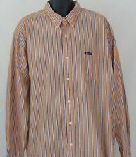Mens Chaps Easy Care XLarge Striped Button-Front Long Sleeve Shirt XL