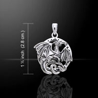 Dragon .925 Sterling Silver Pendant by Peter Stone