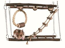 Trixie Hamster Mouse Gerbil Cage Natural Wood Hanging Suspension Bridge Toy