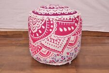 Purple Indian Handmade Pouffe Ottoman Cover FootStool Floor Cushion Bean Bag