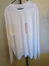 NWT Eddie Bauer Mens Crew Neck L/S T Shirt-Color-White-Size-XXXL-Retail-$20.00