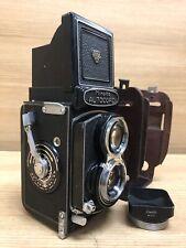 *Exc+5 w/ Case & Hood* Minolta AUTOCORD TLR Film Camera / Rokkor 75mm f3.5 From