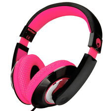 Adjustable Over-Ear Kids Childs Girls Pink Headphones PC MP3 IPOD MP4 DVD TABLET