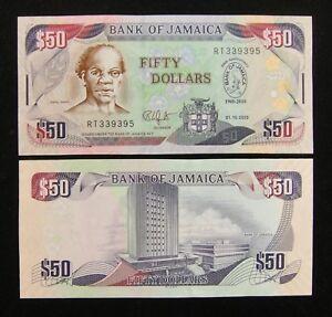 Jamaica Commemorative Banknote 50 Dollars 2010 UNC