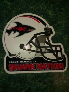 Jacksonville Sharks Bumper Sticker Shark Nation