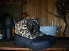 OZARK TRAIL MENS WINTER CAMOUFLAGE BOOTS SIZE 7 CAMPING HUNTING SHOES - 5 TEMP
