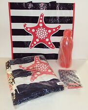 New Tupperware LOGO Seashore Award Beach Set Towel Tote Bag Sports Bottle Koozie