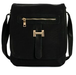 Womens Designer Medium Messenger Crossbody Multipockets Shoulder Handbag Purse