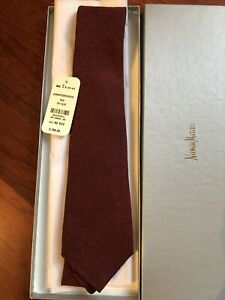 NWT $295 Kiton Solid Red Textured Tie