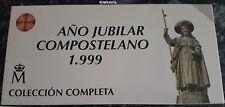 JACOBEO 1999 AÑO JUBILAR COMPOSTELANO. 80000-10000-3 de 2000 Pesetas ORO Plata