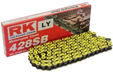 MZ SM 125 R / SX 125 / RT 125 verstärkte RK Kette in gelb 428/132 + Clipschloss