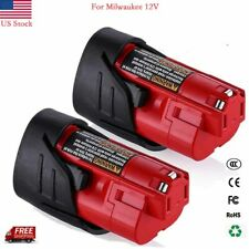 2 Pack For Milwaukee M12 12V Battery Replacement | Upgraded to 3.5Ah Li-ion