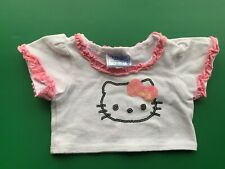 Build a Bear Full Size  Clothing - Girls White Bling Hello Kitty Top Tee Shirt