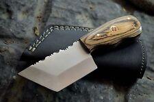 BDS CUTLERY CUSTOM MADE D2 TOOL STEEL FULL TANG TANTO MINI CLEAVER KNIFE UK-706