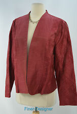 Coldwater Creek CWC silky open embroidered Jacket light Coat blazer PL 14 16 NWT