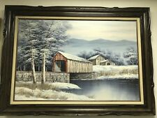 Tranquil Winter Scene Painting By K. Michaelson