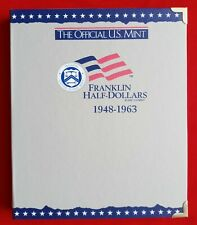 OFFICIAL US MINT COIN ALBUM FOR FRANKLIN HALF DOLLARS - NEW