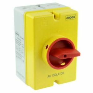 Hylec 4 Pole 32A AC Rotary Isolator IP66 Flame Retardant