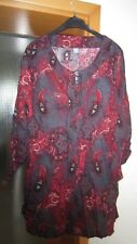 Happy Size~Tunika~Bluse~Paisly~braun/rot~Gr.46~TOP