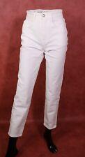 GJ11-164 MAC Kelly Damen Jeans weiß Gr. 34 L30 high waist tapered leg Stretch