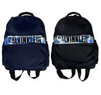 Calvin Klein Large Sparkle Logo Backpack Bag Black/Navy New