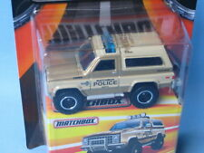 Matchbox Chevy Blazer Police 70mm Toy Model Car in BP USA Best of Series