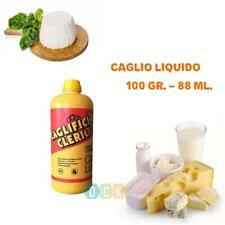 Caglio Liquido Clerici 100 gr. G/DG Produzione Formaggi Latticini Uso Caseario