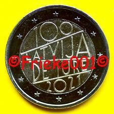 Letland - Lettonie - 2 euro 2021 comm.(100 jaar erkenning)