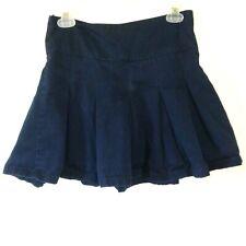 Cherokee School Uniforms Girls Plus 10 Navy Blue Side Zip Pleated Adjustable
