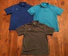 Nike Golf DRI-FIT Short Sleeve Polo Shirt Lot Of 3 Three Men's XL