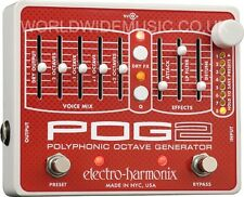 EHX Electro Harmonix POG 2 Polyphonic Octave Generator Guitar Effects Pedal