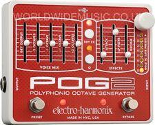 EHX Electro Harmonix POG 2 polifónicos Generador de efectos de guitarra pedal octave