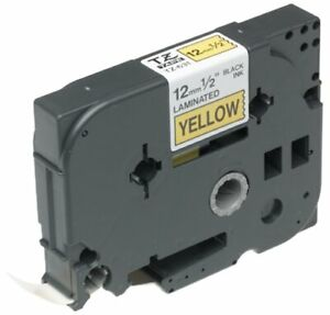 """Brother TZ-631 1/2"""" Labeling Tape (26.2', Black on Yellow)"""