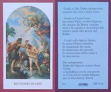 Santino Holy Card: Battesimo di Gesù - Ed. EGIM 314