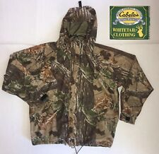Cabelas Whitetail Gore-Tex Hooded Camouflage Hunting Jacket Mens Size Large USA