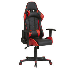 Sillon Giratorio GAMING color Rojo y Negro Reposabrazo Reposacabeza Cojin Lumbar